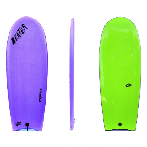 Catch Surf Beater Finless (Purple/Lime) Surfboard