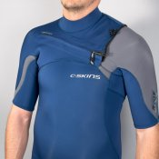 C-Skins Mens 2mm ReWired Short Arm (Ink Blue/Graph Wetsuit