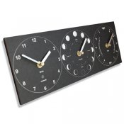 Ashortwalk Recycled Moon, Tide, Time Clock (Black)
